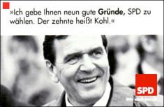 Bild 067: Wahlwerbung von Gerhard Schröder [Archiv der Sozialen Demokratie]