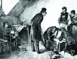 Lexikon Bild 008: Hausdurchsuchung während des Sozialistengesetzes [Archiv der Sozialen Demokratie Fotoarchiv]
