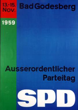 Lexikon Bild 062: Plakat zum Parteitag in Godesberg [Archiv der Sozialen Demokratie]