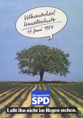 Lexikon Bild 094: Plakat zum Volksentscheid Umweltschutz 1984 [Archiv der Sozialen Demokratie]