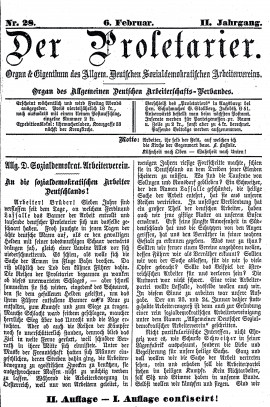 "Lexikon Bild 010: Titelblatt ""Der Proletarier"" [Unbekannt]"