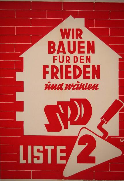 Dokumente Bild 138: Wahlplakat der SPD 1956 [Archiv der Sozialen Demokratie]