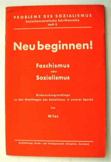 """Lexikon Bild 041: Titelblatt der Programmschrift """"Neu beginnen"""" [Bildarchiv Hofmann]"""