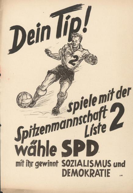 Bild 051: Flugblatt der SPD zur Landtagswahl 1950 [Archiv der Sozialen Demokratie]