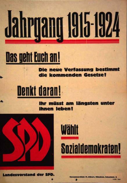 Dokumente Bild 117: Wahlplakat der SPD 1946 [Archiv der Sozialen Demokratie]