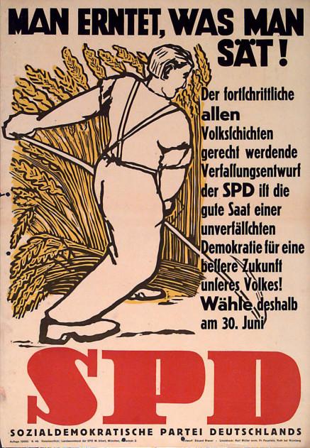 Dokumente Bild 114: Wahlplakat der SPD 1946 [Archiv der Sozialen Demokratie]
