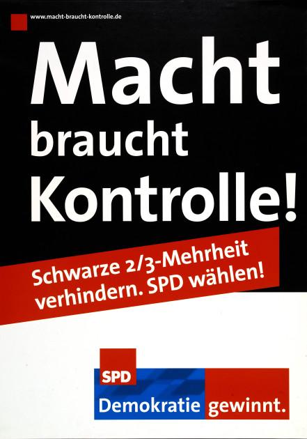 Bild 064: SPD-Plakat zur Landtagswahl 2003 [Archiv der Sozialen Demokratie]