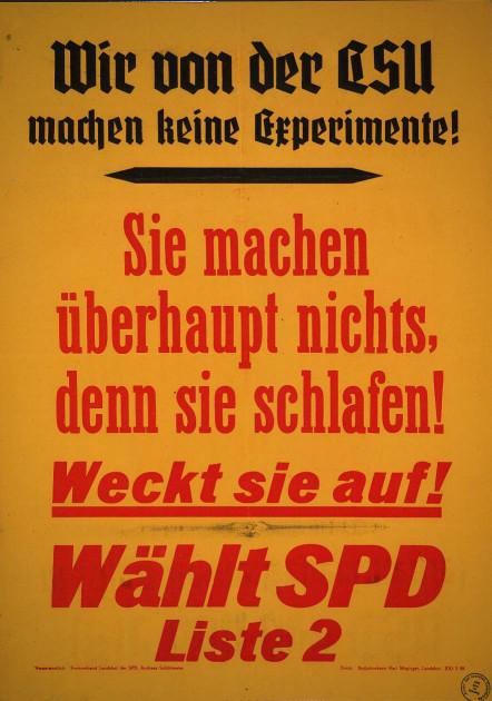 Dokumente Bild 133: Wahlplakat der SPD 1948 [Archiv der Sozialen Demokratie]