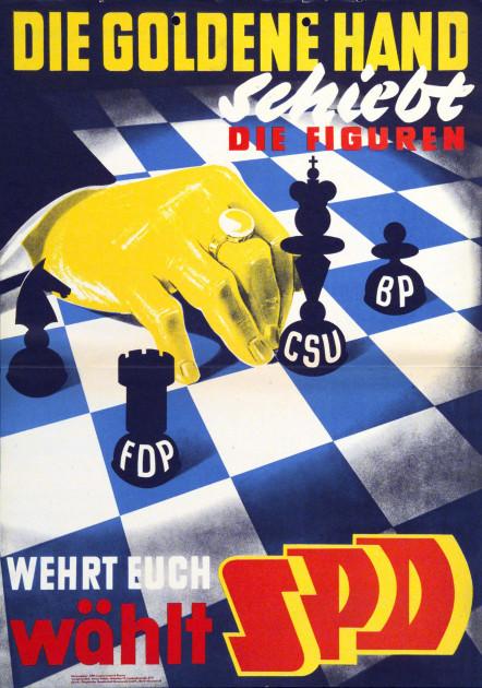 Dokumente Bild 135: Wahlplakat der SPD 1954 [Archiv der Sozialen Demokratie]