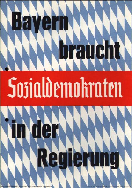 Dokumente Bild 139: Plakat der SPD 1958 [Archiv der Sozialen Demokratie]