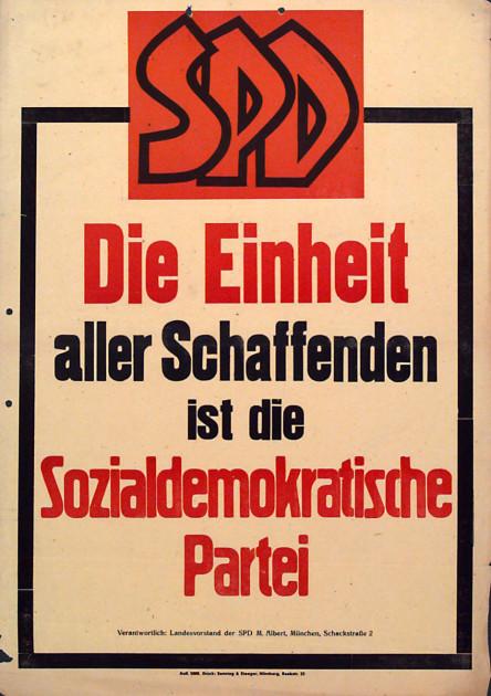 Dokumente Bild 112: Wahlplakat der SPD 1946 [Archiv der Sozialen Demokratie]