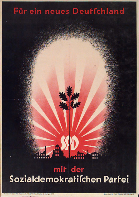 Dokumente Bild 120: Wahlplakat der SPD 1946 [Archiv der Sozialen Demokratie]