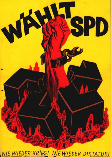 Dokumente Bild 123: Wahlplakat der SPD 1946 [Archiv der Sozialen Demokratie]