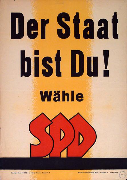 Dokumente Bild 124: Wahlplakat der SPD 1946 [Archiv der Sozialen Demokratie]