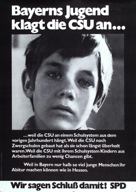 Dokumente Bild 144: Plakat der SPD 1970 [Archiv der Sozialen Demokratie]