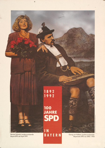 Bild 066: SPD-Plakat zum 100-jährigen Jubiläum der bayerischen SPD [Archiv der Sozialen Demokratie]