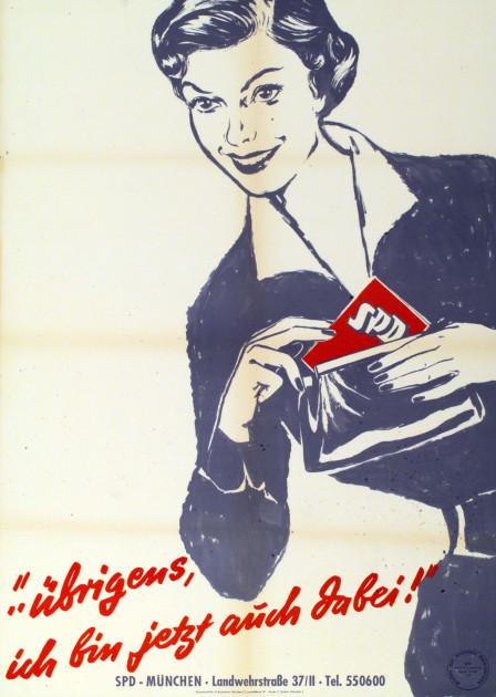 Dokumente Bild 140: Plakat der SPD 1958 [Archiv der Sozialen Demokratie]