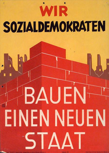 Dokumente Bild 107: Wahlplakat der SPD 1946 [Archiv der Sozialen Demokratie]