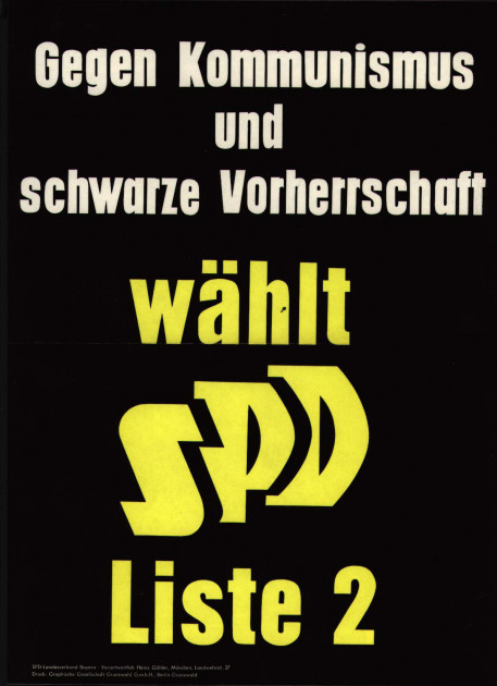 Dokumente Bild 142: Plakat der SPD 1958 [Archiv der Sozialen Demokratie]