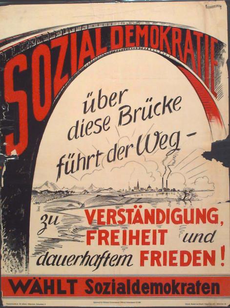 Dokumente Bild 109: Wahlplakat der SPD 1946 [Archiv der Sozialen Demokratie]