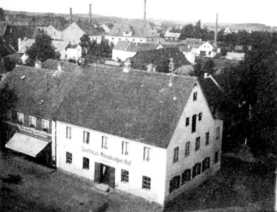 Bild 054: Gaststätte Moosburger Hof in Paffenhofen, Ort der Wiedergründung der bayerischen SPD [Bildarchiv Robert Hofmann]