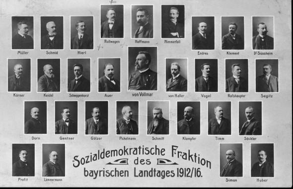 Bild 017: SPD-Landtagsfraktion 1912 [Bildarchiv Hofmann]