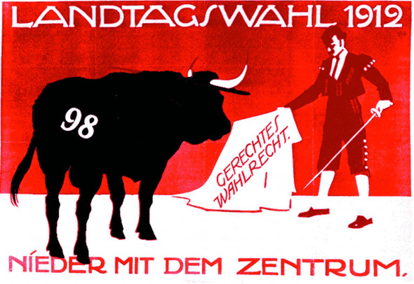 Dokumente Bild 176: Wahlplakat der SPD 1912 [Bildarchiv Robert Hofmann]