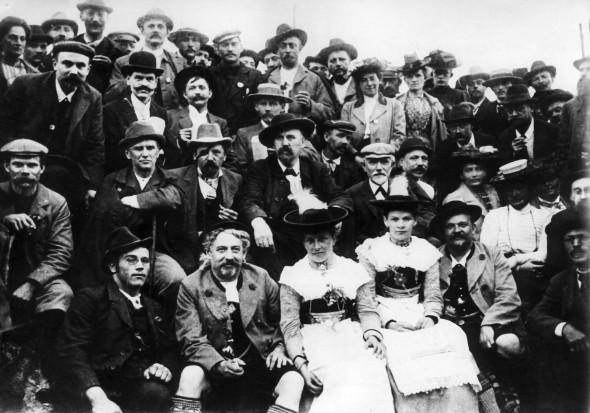 """Bild 999: Almfest auf der """"Bodenschneid"""" beim SPD-Parteitag 1902 in München [Archiv der Sozialen Demokratie]"""