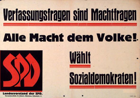 Dokumente Bild 125: Wahlplakat der SPD 1946 [Archiv der Sozialen Demokratie]