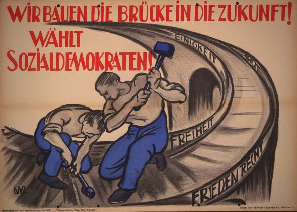 Dokumente Bild 110: Wahlplakat der SPD 1946 [Archiv der Sozialen Demokratie]