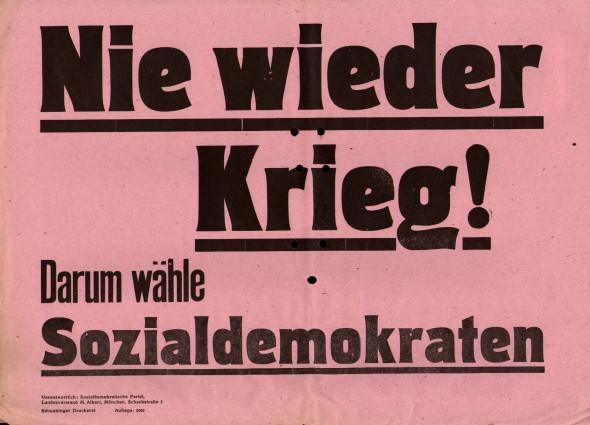 Dokumente Bild 106: Wahlplakat der SPD 1946 [Archiv der Sozialen Demokratie]