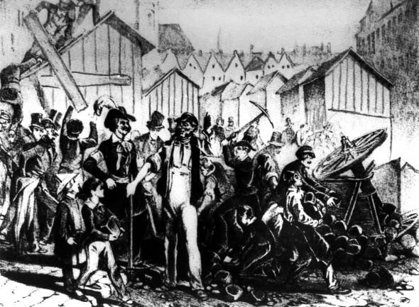 Bild 003: Aufständische 1848 [Archiv der Sozialen Demokratie Fotoarchiv]