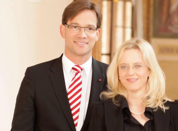 Bild 401: Bildeten ab 2009 das Führungsduo der Partei: Der ehemalige Landesvorsitzende, Florian Pronold, und die damalige Generalsekretärin, Natascha Kohnen [BayernSPD]